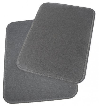 Two New Grey Rear OEM Carpeted Mats for Ford 01-07 Taurus 1F1Z5413106AAB