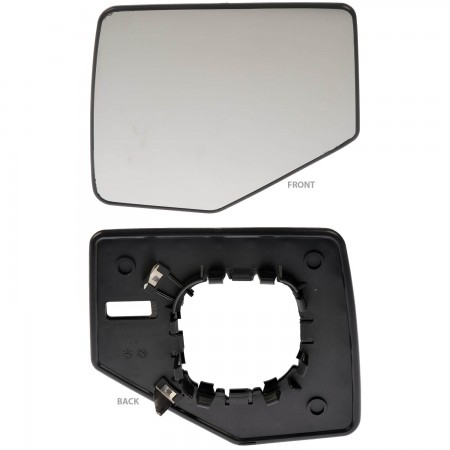 Driver Side Mirror Glass Assembly (Dorman 56147) Non-Heated For 06-10 Ford