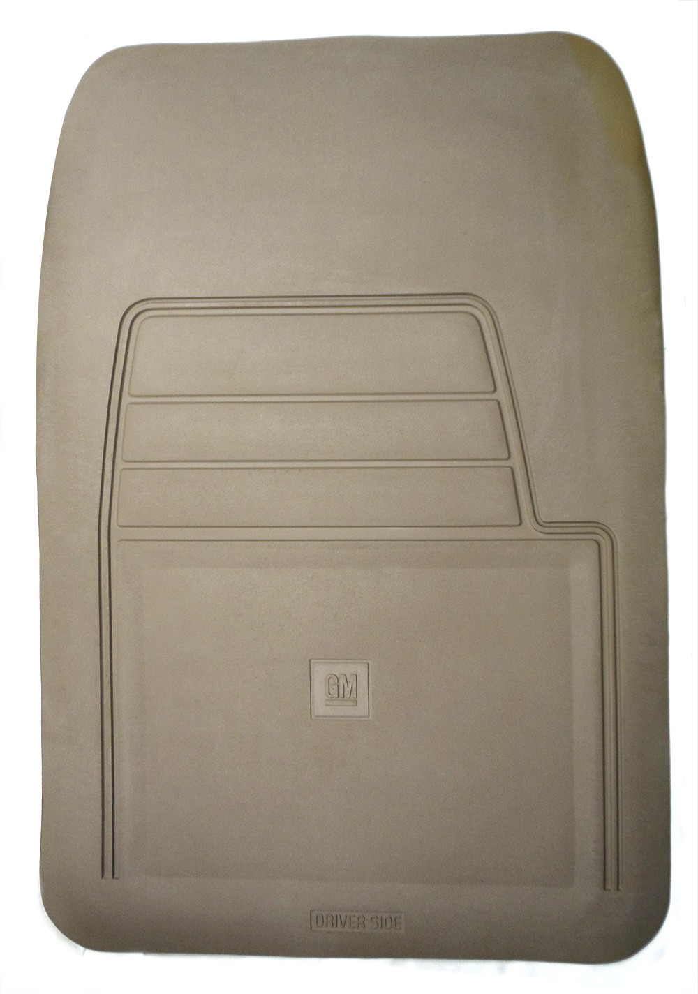 New Oem Genuine Vinyl Floor Mat Tan Driver Side W Logo Gm