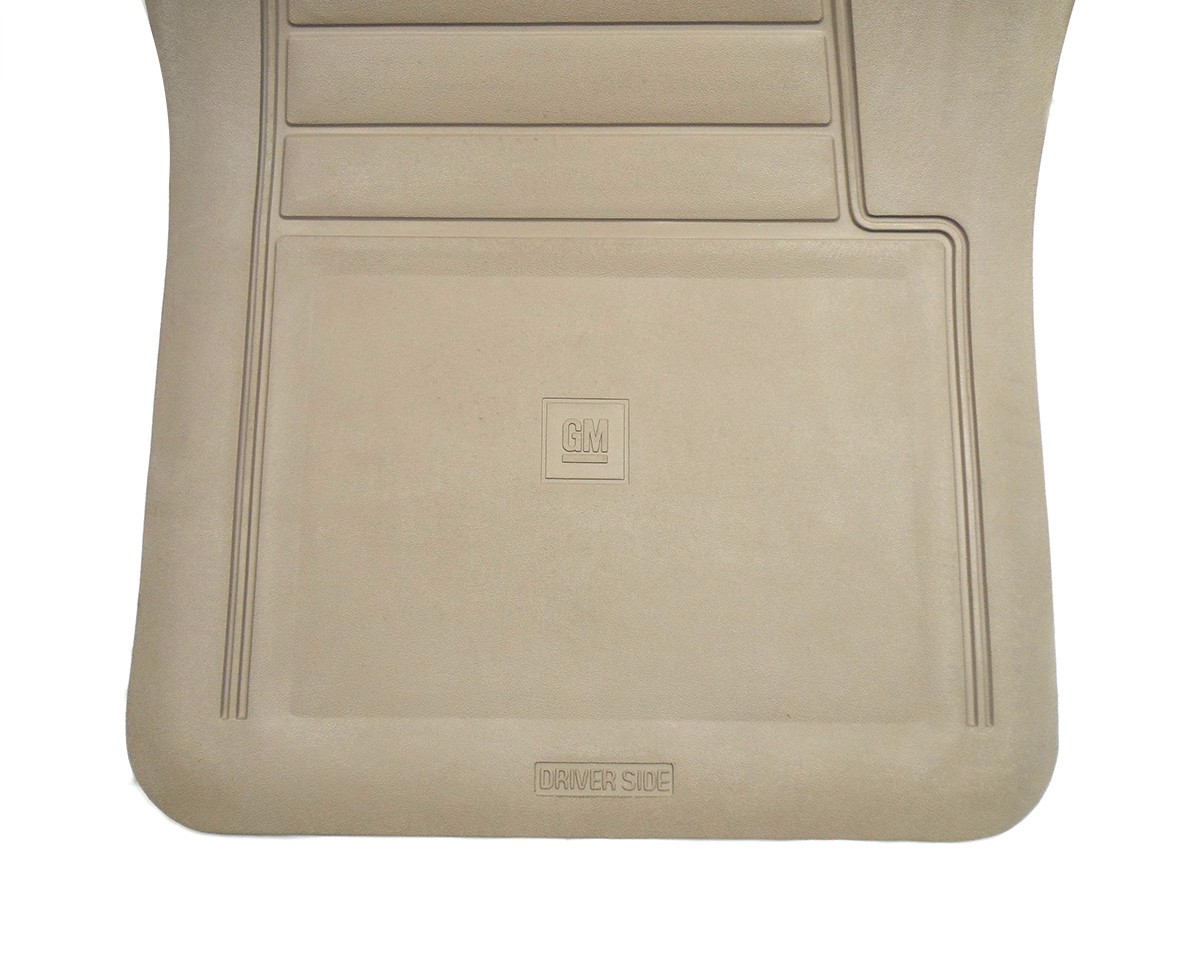 New Oem Tan Vinyl Genuine Floor Mat Set W Logo Gm