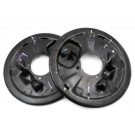 Two New OEM Left and Right Backing Plates, LH & RH 15650129, 15650130