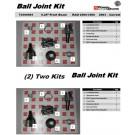 2- Upper 2- Lower OEM Front Ball Joint for 2500/3500 Dodge Ram 4X4 03-13