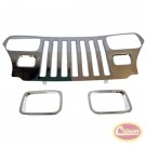 Stainless Steel Grille Overlay Kit - Crown# RT34045