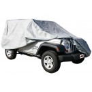 New Full Car Cover Gray W/cable &Lock (Wrangler JK 2-Dr) - Crown# FC10209