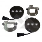 LED Fog Lamp & Harness Set (2) w/ H10 Connector - Crown# RT28038