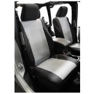 Set of Two Front Seat Covers (Black/Gray) - Crown# SC30021