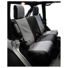 Set of Two Rear Seat Covers (Black/Gray) - Crown# SC30121