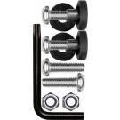 """""""Rattle Stop"""" Metric Locking License Plate Fastener Kit - Cruiser# 81430"""