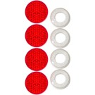 Pack of Four Red Reflecting Fastener Caps - Cruiser# 82226