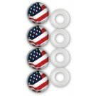 Pack of Four Fastener Caps w/ Flag Graphic - Cruiser# 82300