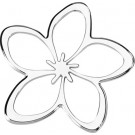 "One ""3D-Cals"" Chrome 'Plumeria' Decal - Cruiser# 83033"