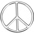 "One ""3D-Cals"" Chrome 'Peace' Decal - Cruiser# 83063"