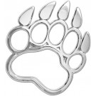 "One ""3D-Cals"" Chrome 'Bear Paw' Decal - Cruiser# 83703"