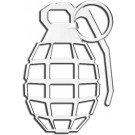 "One ""3D-Cals"" Chrome 'Grenade' Decal - Cruiser# 83803"