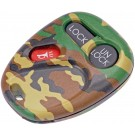 New Keyless Remote Case Replacement Green Camoflage - Dorman 13622GNC