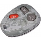 New Keyless Remote Case Replacement Gray Digital Camoflage - Dorman 13622GYC