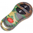 New Keyless Remote Case Replacement Green Camoflage - Dorman 13628GNC