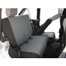 Set of Two Rear Seat Covers (Black/Gray) - Crown# SC30221