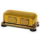 Wolo Priority 3 Amber LED Mini Bar Warning Light, Permanent Mount Amber