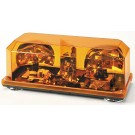 Wolo Priority 1 Amber Rotating Halogen Mini Bar Light, Permanent Mount Amber