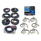 Wolo Lightning Plus 6 Outlet Light Strobe Kit Amber, 6 Flash Patterns, 120 Watts
