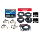 Wolo Lightning XL 4 Outlet Light Strobe Kit Clear - 6 Flash Patterns, 80 Watt