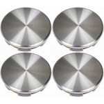 Four Brushed Aluminum Wheel Center Caps (Dorman# 909-053)