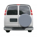 Custom Fit Spare Tire Cover In Grey Model 2 - Classic# 80-089-151001-00