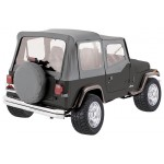 One New Complete Soft Top, Grey Denim - Crown# CT20009 87-95 Jeep Wrangler YJ