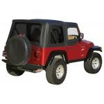 Complete Soft Top, Black Diamond (Tinted Windows) Crown CT20235T Jeep Wrangler