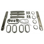 One New Complete Interior Trim Kit (4-Door; Chrome) - Crown# RT27030