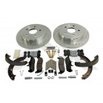 One New Performance Brake Kit (Rear; Drilled & Slotted) - Crown# RT31009