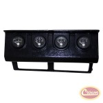 Gauge Panel w/ Gauges (Wrangler YJ - Black) - Crown# RT29002