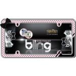 Chrome/Pink/Black/Clear Retro Polka Dot Bling License Frame - Cruiser# 18536