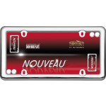 Nouveau License Plate Frame, Chrome with fastener caps - Cruiser# 20630