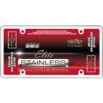 Elite Stainless License Plate Frame, Stainless Steel - Cruiser# 21010