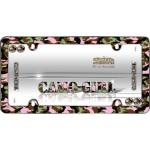 Camo-Girl License Plate Frame, Chrome w/fastener caps - Cruiser# 23093