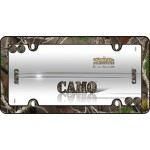 Camo License Plate Frame, Black w/fastener caps - Cruiser# 23095