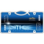 Ichthus License Plate Frame, Chrome - Cruiser# 29003