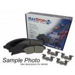 One New Rear Ceramic MaxStop Plus Disc Brake Pad MSP1281 w/ Hardware - USA Made