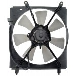 Left Engine Radiator Fan Assembly (Dorman 620-520) w/ Shroud, Motor & Blade