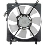 Left Engine Radiator Fan Assembly (Dorman 620-524) w/ Shroud, Motor & Blade