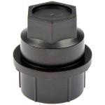 Black Wheel Nut Cover M27-2.0, Hex 22mm - Dorman# 611-607