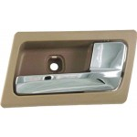 New Front Right Interior Door Handle Chrome & Brown (Parchment) - Dorman 81697