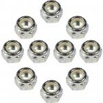 10 Hex Lock Nuts With Nylon Ring - Grade 2 Thread Size 7/8-9 In. Dorman 250-018