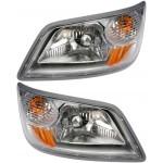 Kit of Left & Right Headlights Dorman 888-5759, 888-5760 Fits 06-14 Hino